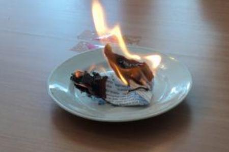 опыты с бумагой горение