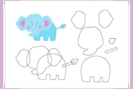 слон выкройки из фетра