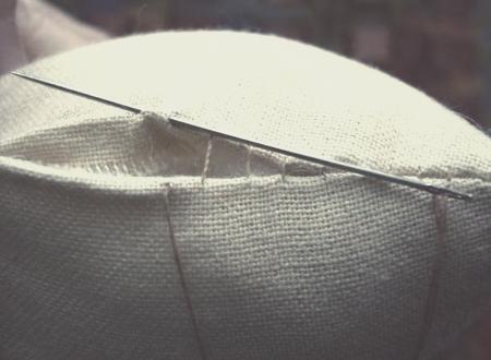 ручные швы потайной шов
