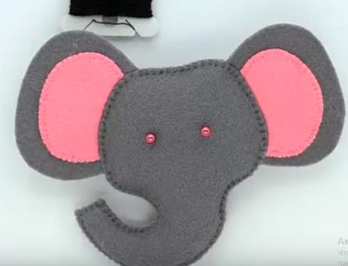 сшить слоника глазки