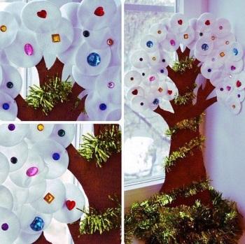 Зимнее дерево оформление