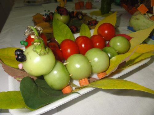 поделки из помидор осенние поделки из овощей