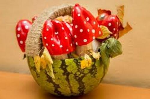 КАК СДЕЛАТЬ мухоморы Из перца осенние поделки из овощей