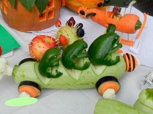 Осенние поделки из овощей с детьми