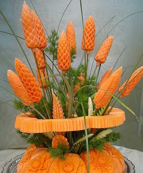 осенние поделки из овощей композиция из моркови