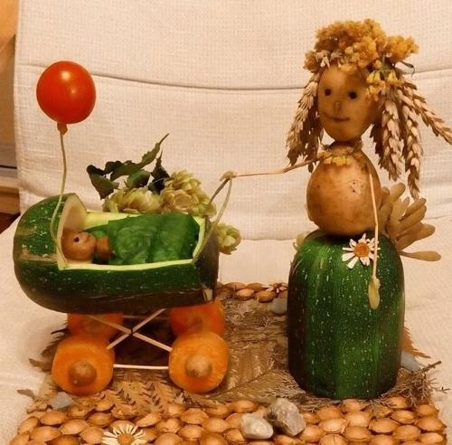 осенние поделки из овощей поделки с детьми в садик