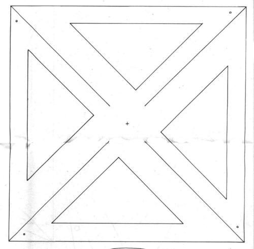 шаблон вертушки с прорезями