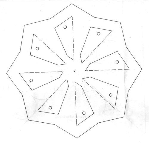 шаблон вертушки восемь лопастей