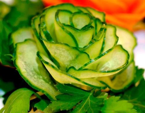 осенние поделки из овощей роза