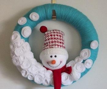 снеговик оформление на дверь