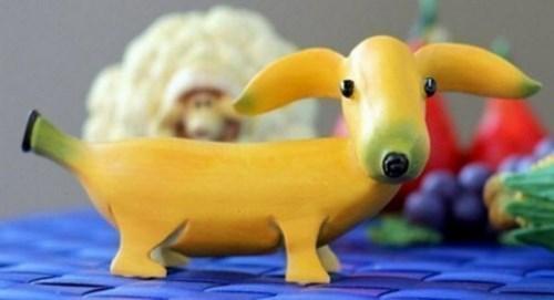 Собака из банана