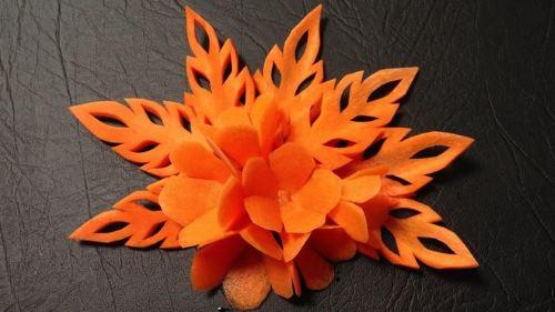 Украшение из моркови осенние поделки из овощей
