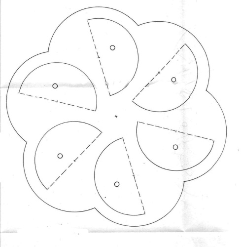 шаблон шестилопастной вертушки
