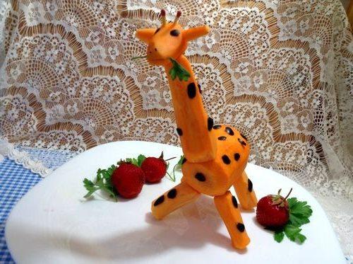 Осенние поделки из овощей жираф