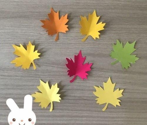 Поделка Объемный Зонтик, кленовые листья