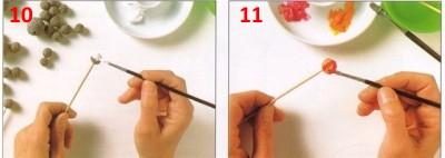 бусы из бумаги своими руками окрашивание бусин