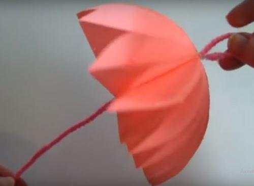 поделка объемный зонтик