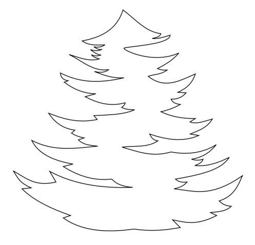 елочка новогодняя (трафареты) на окна