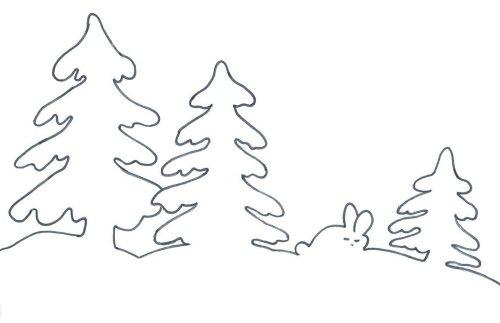 елочка зимняя(трафареты)