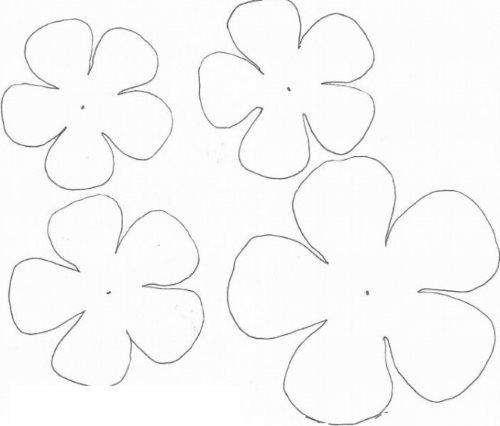 Цветы с закругленными лепестками