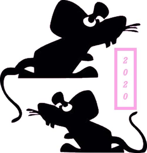 Трафареты Крысы-Мыши. для вырезания