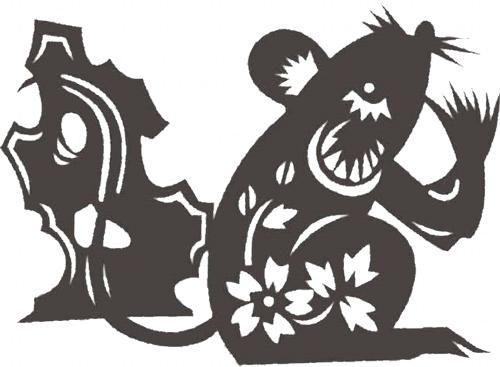 Трафареты Крысы-Мыши.украшаем окна к празднику