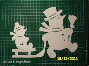 Забавные снеговики.(трафареты) ольга кучаровская