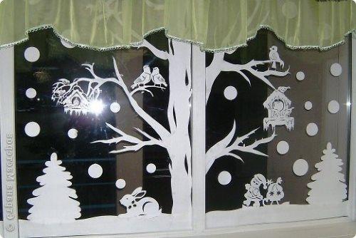 лес на окне