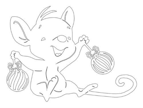 трафареты крысы мыши для детей