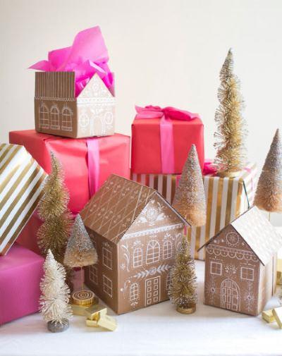 Как упаковать новогодний подарок (Своими руками 2020) домик из картона