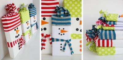 Как упаковать новогодний подарок (Своими руками 2020) снеговички