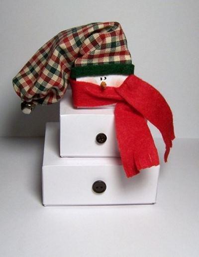 Как упаковать новогодний подарок (Своими руками 2020) снеговик