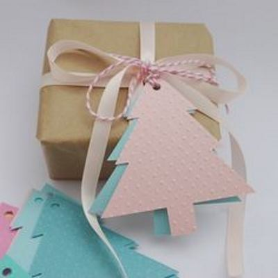 оформление подарка с елочкой