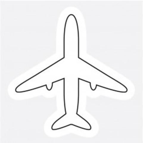 шаблон самолета