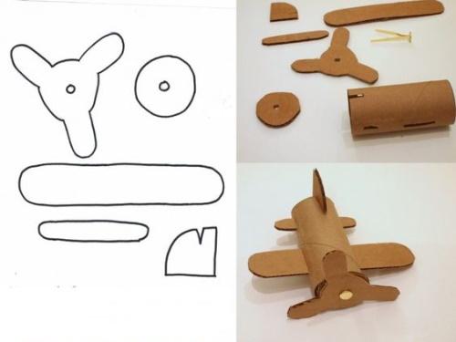 Самолет из гофрированного картона