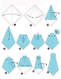 Галстук оригами схема пошагово