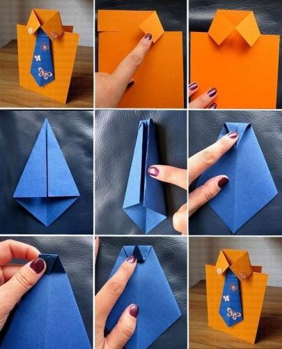 последовательность работы рубашка с галстуком