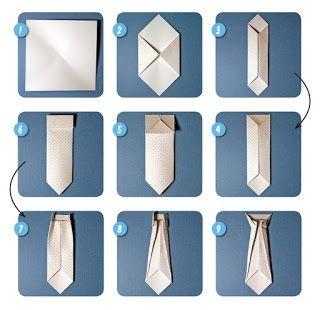Галстук оригами схема 2