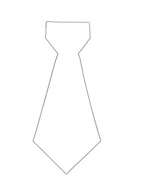 Выкройка галстука
